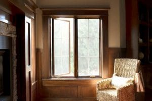 casement windows in house